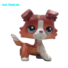 Cute LPS figure kids Collection toy dog COLLIE #1542 Children's gifts