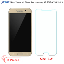 "Xxins 2PCS Offer Protective film Glass For Samsung Galaxy A5 2017 Ultra-thin Screen Protect Tempered glass For 5.2"" A520F A520"