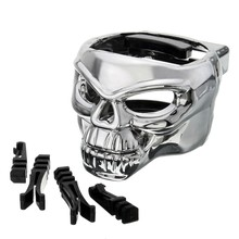 Silver Skull Car Vent Cup Holder Drink Bottle Mount Can Mounting Stand Universal