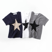 kids Summer Casual Comfortable Clothes Start Print T-shirts Kids Cotton Boys Girls Shirt  2-7Y Newest Z9101