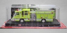 DIECAST METAL 1:64 FIRE TRUCK MODEL USA 1997 PIERCE QUANTUM PUMPER(China)