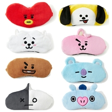 Skin Soft Touch Cartoon Eye Mask Toy BT21 BTS Travel Lunch Break Sleep Shading Breathable Natural Sleep Mask Figures Gift Kids(China)