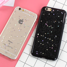 Soft TPU Case For Apple iPhone 7 Plus Case Bling Star Silicone Phone Back Cover Cases for iPhone 6 6s Plus SE 5 5S Clear Fundas