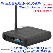 N380W thin client terminal with Windows 7 64 bit support nettc RDP software CD included customized with 1 COM WIN.CE 6.0 COA