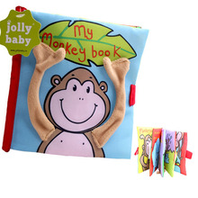 Buy Colorful Monkey Bear Baby Cloth Books Newborn Baby Toys Early Learning Educational Toy Cute Baby Rattles Mobile for $3.96 in AliExpress store