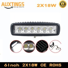 2PCS 18W led work light bar 6inch spot flood driving light for Off road Vehicle Boat ATV SUV 4WD 4x4 trailer Truck Car