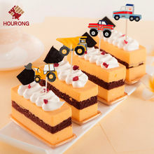 Detail Feedback Questions About 1 Set Car Tractor Pattern Dessert Inserted Card Cake Topper Prod Decoration Children Birthday Cupcake Party