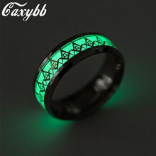 Caxybb Top Brand Masonic ring Men's Silver Ring Gold Stainless Steel Shining Fluorescent Shining Jewelry Fashion Rings for Women(China)