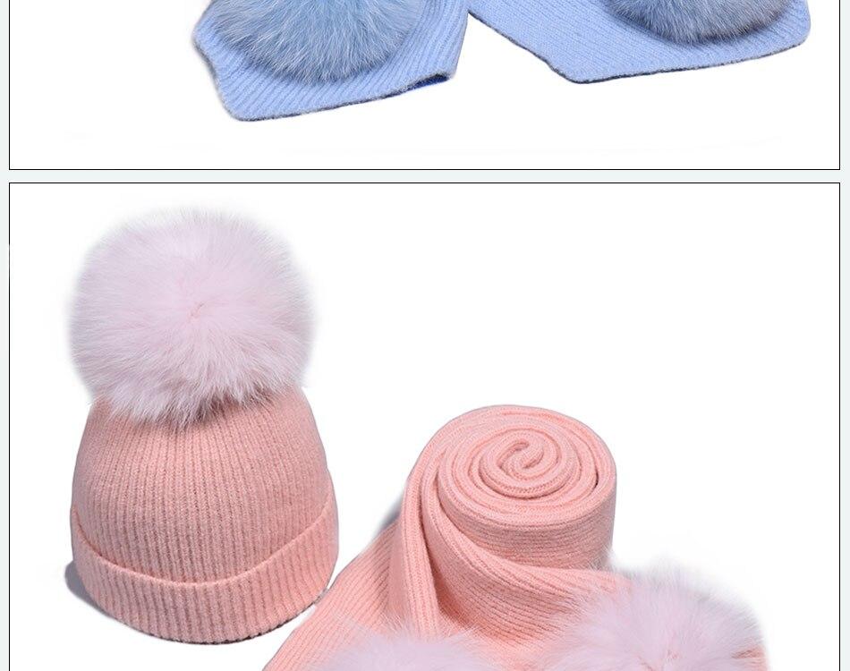 قبعة ووشاح للفتيات 15