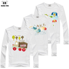 DMDM PIG Winter Printed Baby Boy Little Girls Long Sleeve Tops T-Shirts For Boys Kids Clothing Infant Children T-Shirt Size 5