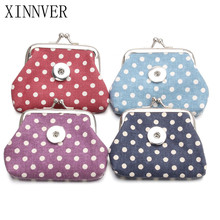 4 Color Vintage Spot Coin Purses Small Wallets Pouch Fit 18MM Snap Buttons Jewelry Kids Girl Gift For Women Bracelet
