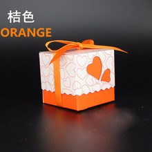 50pcs Wedding Favor Square Yellow Candy Boxes Wedding Package Gift Box for wedding decoration or holiday supplies