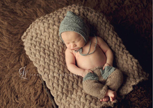 Free shipping Handmade Newborn hat Baby Crochet pixie hat with pants baby sets Newborn Photo photography prop 0-6 MONTH