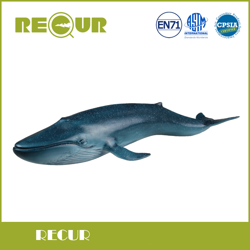 Recur Toys Blue Whale Delicate Model Hand Painted Soft PVC Sea Life Animal Figures Toys Collection Christmas Gift For Children <br>