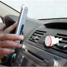 Car air vents Magnetic holder bracket outlet stealth vehicle mount 360 degree rotating stand for all phone iPhone HTC Xiaomi LG