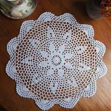 NEW Cotton Mat Hand Crocheted Lace Doilies  Flower Shape Coasters Cup Mug Pads Home Coffee Shop Table Decoration Crafts Gift