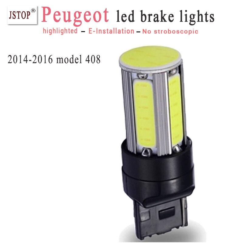 2014-2017 modle 408 T20 led Brake Lights stoplight canbus light 12v led Brake lamp autobulbs w21w Car 7443 led External Lights<br><br>Aliexpress