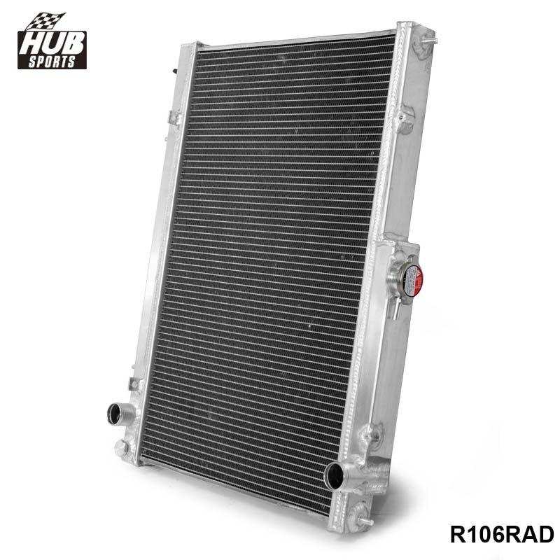 Hubsports - 42MM 2 Row Aluminum Radiator for Nissan Skyline R33 R34 GTR GTST RB25DET MT HU-R106RAD