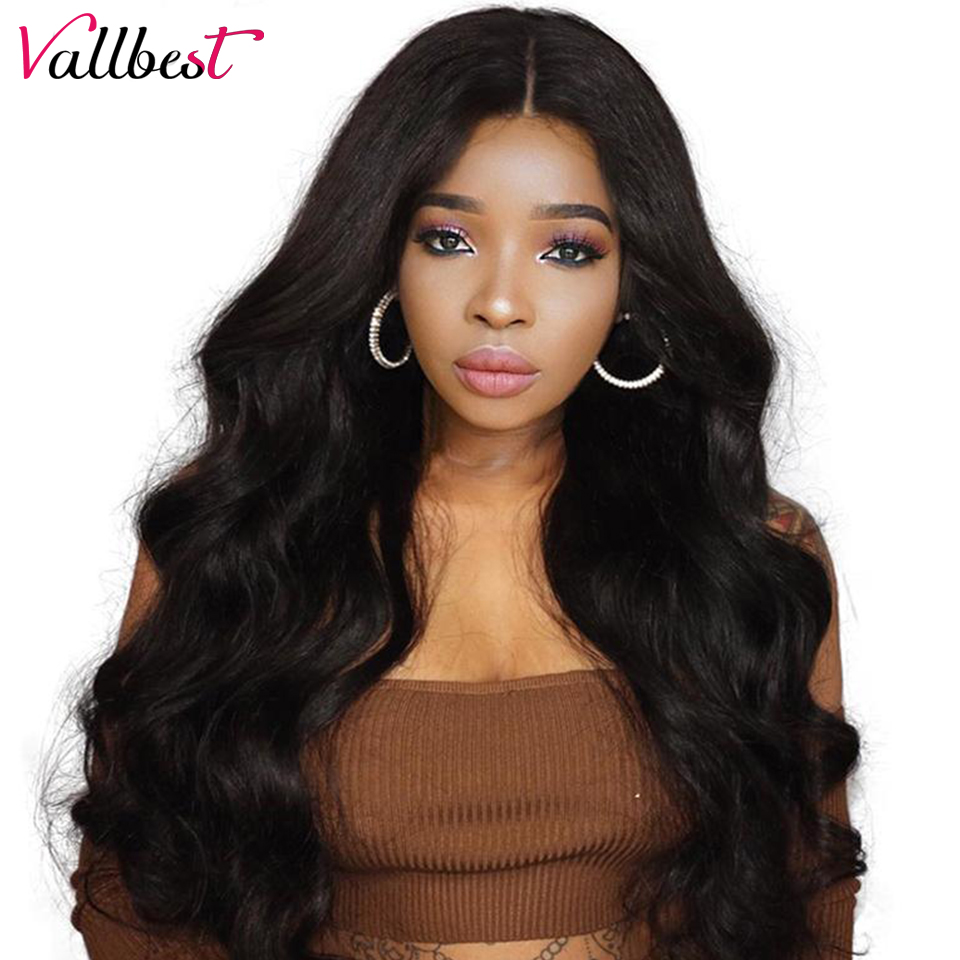 Vallbest Body Wave Lace Front Human Hair Wigs For Black Women 150% Density Human Hair Wigs Pre Plucked With Baby Hair Remy Wig(China)