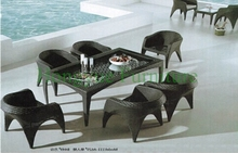 Rattan garden dining set furniture,rattan outdoor furniture sets(China)
