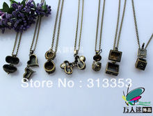 Wish Box Necklaces(Assorted Designs) Aromatherapy lockets  Prayer Lockets glass perfume bottle pendant