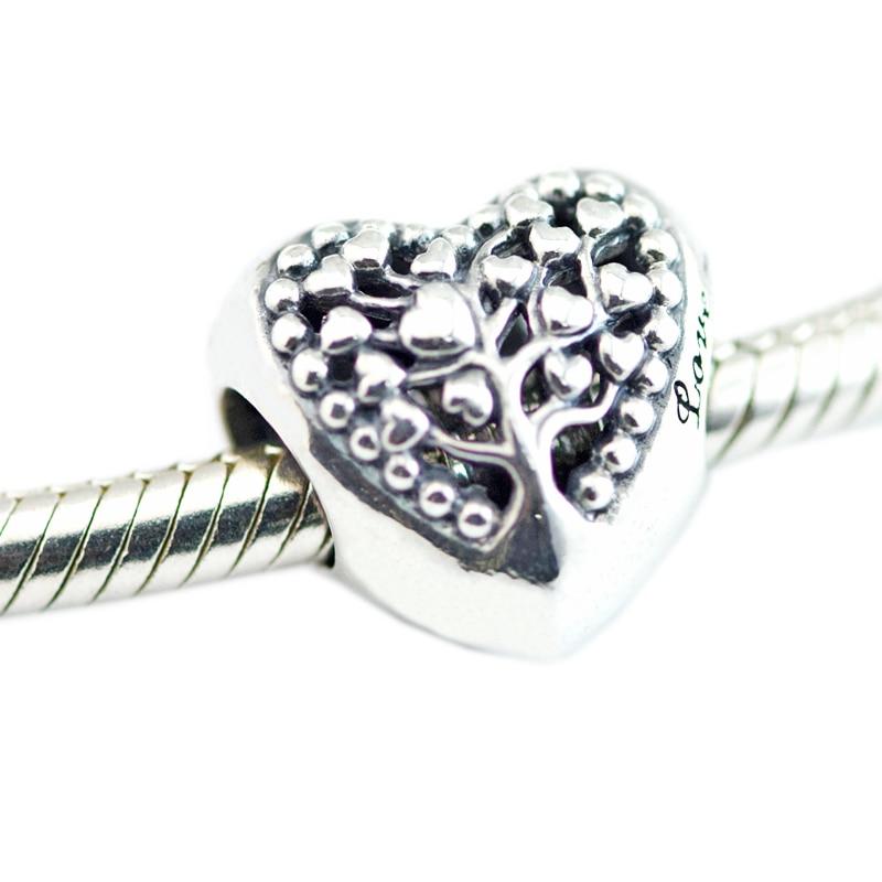 Pandulaso Flourishing Hearts Beads Mother's Day Woman Beads For Jewelry Making Fit Bracelet & Bangle Sterling Silver Jewelry