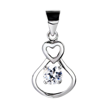 GND0270 YFN 925 Sterling Silver Pendant Beauty Classic Crystal Infinity Love Necklaces Pendants Women Luxury Fashion Jewelry(China)