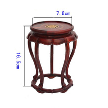 Redwood carved wooden furnishing articles wooden red acid branch stone crafts special circular base(China)