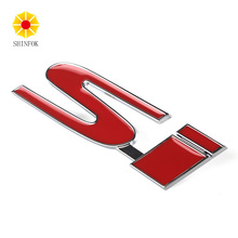 Metal 3D Auto Emblem Car Sticker SI Logo for Honda Civic Si Coupe 2017 New Styling(China)