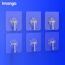 6 Pcs Set Stainless Steel Paste Hook Suction Cup for Glass Hooks Rails Hanger Loop Wall Hanging Sucker Bathroom Towe Kitchen Bag(China)