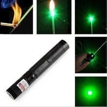 EU/US Plug 18650 Battery 303 Green Laser Pointer Pen Adjustable Focus Lit Match