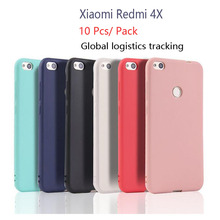 For Xiaomi Redmi 4X Clear TPU and Matte solid color Case For Redmi 4X Redmi4X Back Cover Protect Skin Silicon case 10 Pcs(China)