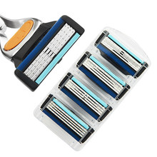 8pcs/lot Razor Blade For Men Face Care Shaving Safety Shaver Blades rasoir Comfortable Replace for Fusione Power mach 3(China)