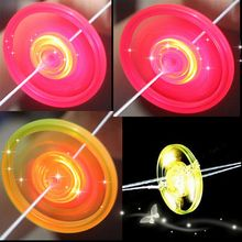 Random Color!!! 2017 Hot 1 PC High Quality Colorful Plastic Spin LED Light Frisbee Toys Flying Saucer Kids Classic Outdoor Toys(China)