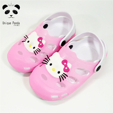 Summer Hello Kitty Shoes Jelly Garden Clogs Children Girls Shoes Pantufa Kids Beach Clogs Boys Sandals and Slippers 11 Colors(China)