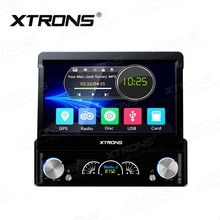 XTRONS 7inch HD Digital Touch Screen 1 Din Universal Head Unit GPS Navigation Steering Wheel Stereo Radio MP3 MP4 Car DVD Player