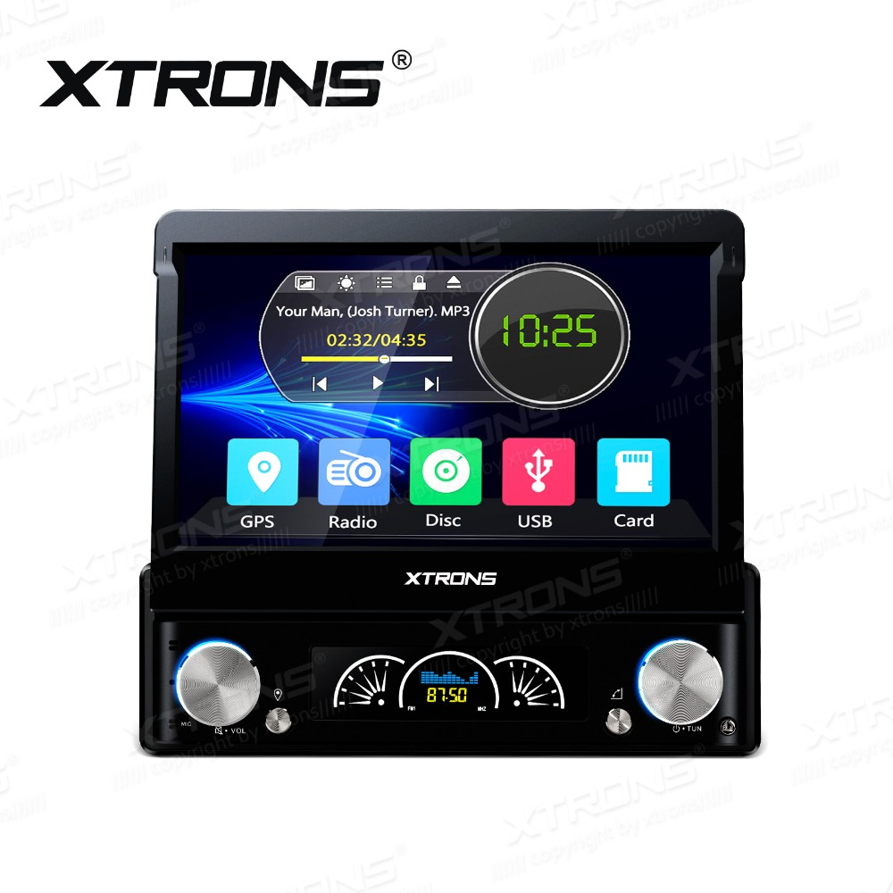 XTRONS 7'' HD Digital Touch Screen 1 Din Universal Head Unit GPS Navigation Steering Wheel Stereo Radio MP3 MP4 Car DVD Player(China)