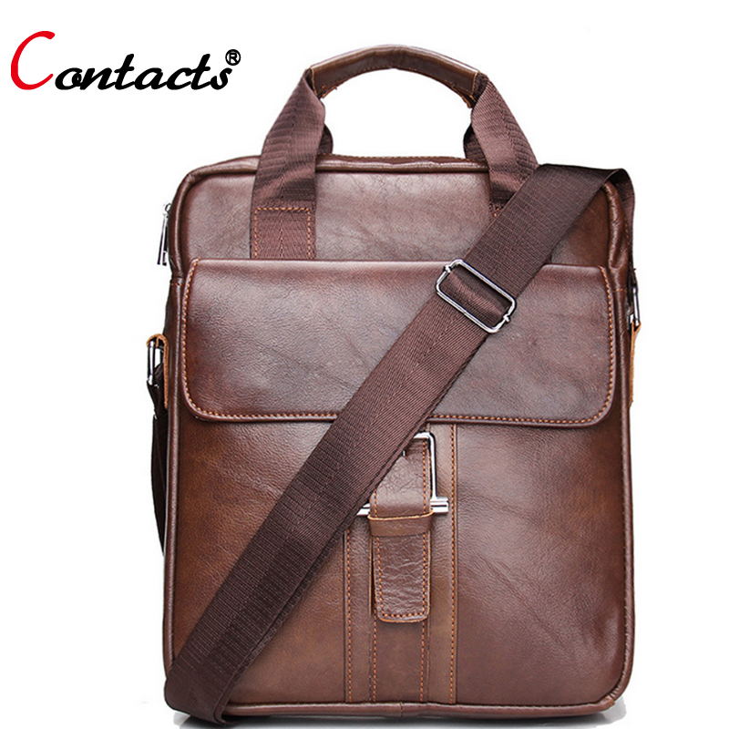 CONTACTS Genuine Leather Men Crossbody Bags Casual Messenger Bags Multifunction Korean Shoulder Bags For Men Dollar Price 2017<br><br>Aliexpress
