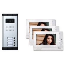 Three 3 Units Apartment Building Color Video Intercom System 100 Visitor Photo Memory