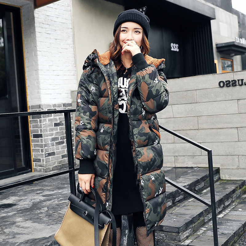 2017 New Arrival S-XXXl Winter Jacket Women Thick Women Jacket Camouflage And Loose Casual Fit Warm Hood Outerwear &amp; SnowsuitÎäåæäà è àêñåññóàðû<br><br>