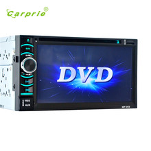 2017 new fashion 6.5 Double 2DIN Touch Car Stereo CD DVD Player Bluetooth USB SD AM FM TV Radio ses quality hot 17june2
