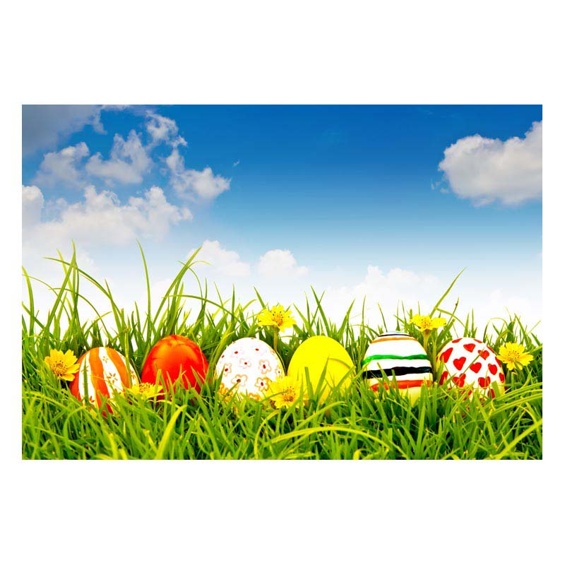 2.2MX1.5M For taking pictures there are beautiful flowers and colorful eggs happy Easter printed vinyl background GE-190<br><br>Aliexpress
