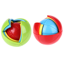 Funny 3D Magic Intellect Puzzle Colorful Ball Shape Puzzle Maze Ball Brain Teaser Game Educations for Kid IQ Training Logical(China)