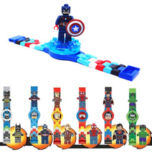 Cartoon Movie Buildable Watch Figure Rotate Spin Building Block Toy for Boy Kid children Xmas New Year Birthday Gift(China)