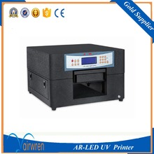 best seller a4 led uv flat bed printer support  print white with emboss effect