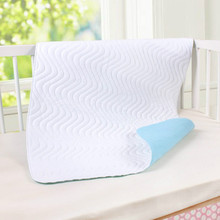 New Cotton 5 Layers Baby Waterproof Mat Large Baby Mat Cover Infant Urine Pad Mattress Sheet Protector Bedding Blue