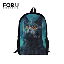 Personalited Children School Bags Cute Cat Schoolbag for Primary School Boys girls Polyester Double Kids Bookbag Mochila Escolar