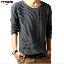 Spring and winter New Men Sweaters O-Neck Long Sleeve Knitted Polo Pullovers Thick Mens Sweater Soft Simple Fashion Casual(China)