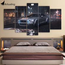 5 Piece Canvas Art Ford Mustang Car HD Printed Wall Art Home Decor Canvas Painting Picture Poster Prints Free Shipping NY-6571A