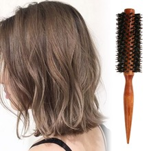 Anti-static Bristle Curly Hair Comb Brush Roll Round Wood Handle Hair Care Curly Wave Hair Styling Hairdressing Comb Tool